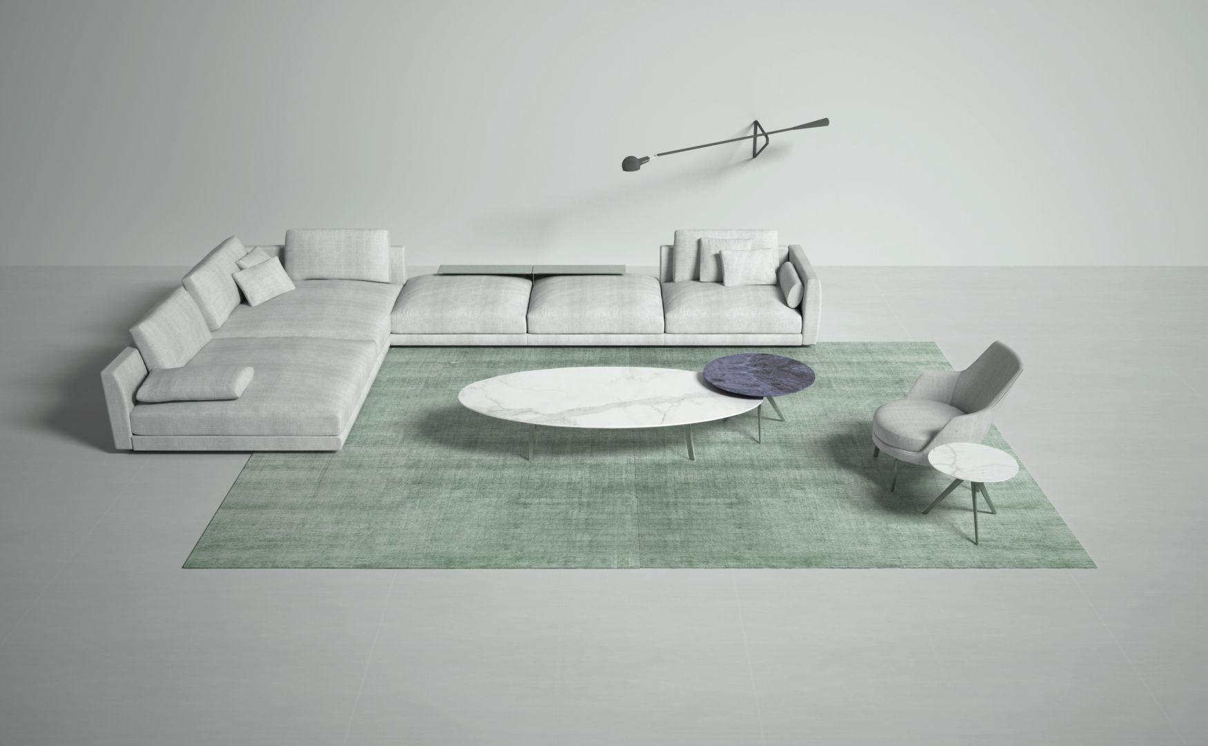 Dostępne w ośmiu różnych kolorach dywany Bamboo Shaded są wykonane w 90% z bambusa iw 10% z bawełny techniką tkania na krośnie. Fot. Carpet Edition Bamboo Shaded BS08