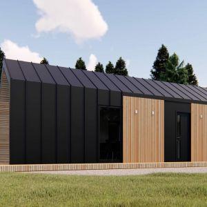 Projekt domu modułowego Oslo o powierzchni 35m2. Koszt budowy: 93 tys. zł netto (w stanie wykończonym. Producent: Mobile Development