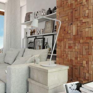 Oryginalne ścienne panele drewniane z serii Wood Collection. Wykonane w pełni z naturalnego surowca. Na zdjęciu model Cube marki Stegu. Fot. Stegu