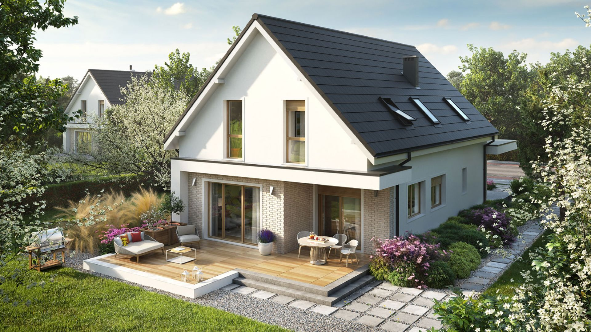 Kosma G2 to komfortowy dom, który czerpie z tradycji, a jednocześnie jest bardzo nowoczesny i energooszczędny. Projekt: pracownia Archipelag