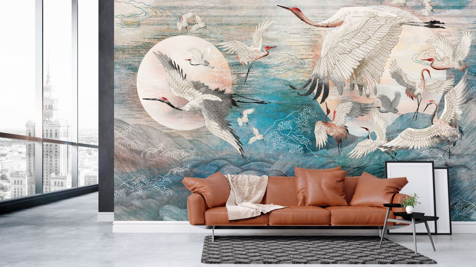 Tapeta z kolekcji Dance of Cranes. Cena: 160 zł/m2. Fot. Walltime