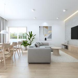 Wnętrza domu zaprojektowane w stylistyce skandynawskiej. Projekt: Sebastian Marach, pracownia Yono Architecture