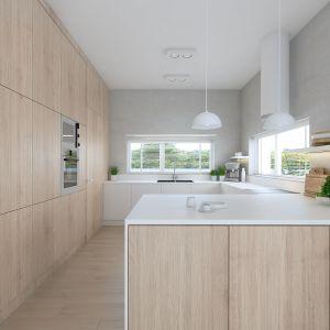 Nowoczesna otwarta kuchnia. Projekt: Sebastian Marach, pracownia Yono Architecture