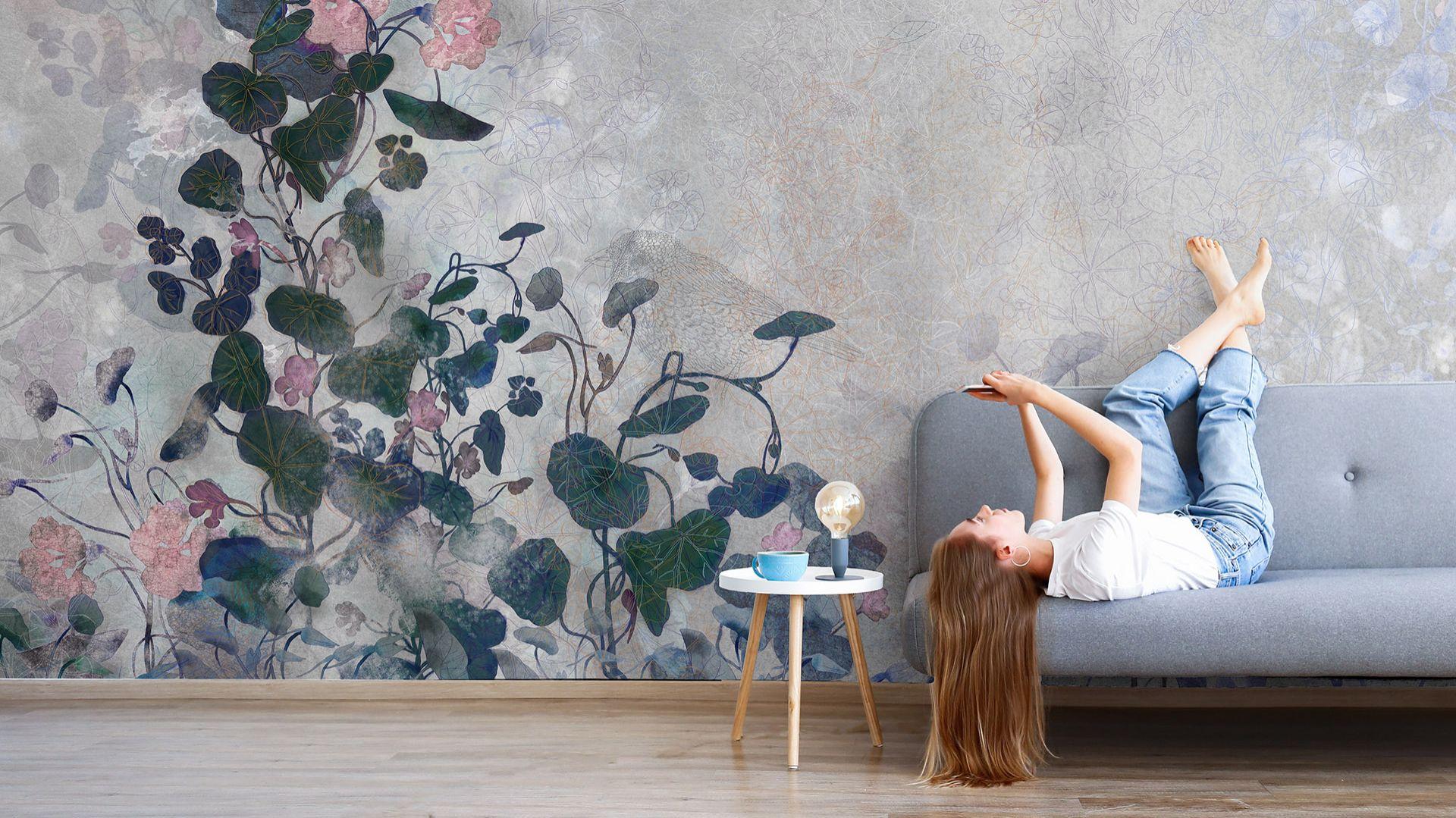 Tapeta z kolekcji Secret Garden dostępna w ofercie firmy Walltime. Cena: 160 zł/m2. Fot. Walltime
