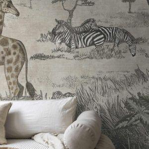 Tapeta do salonu z kolekcji Serengeti dostępna w ofercie firmy Boras. Cena: 899 zł. Fot. Boras