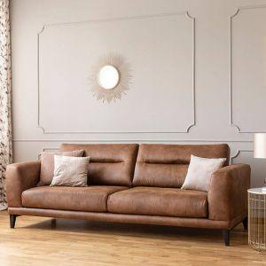Paleta brązów i bieli polecana jest tradycyjnie do wnętrz w stylu vintage czy klasycznym, ale kolory ziemi sprawdzą się też w nowoczesnej aranżacji salonu. Fot. Dekoral