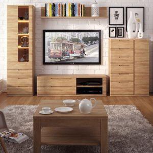 Kolekcja Contra inspirowana naturalnym drewnem. Producent: Meble Wójcik
