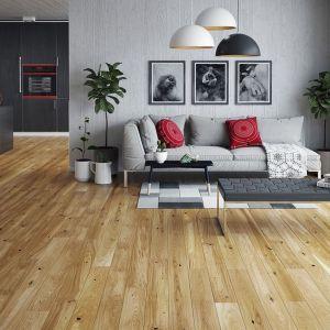 Podłoga drewniana z kolekcji Dąb Conchi Piccolo dostępna w ofercie firmy Barlinek. Cena: ok. 210 zł/m2. Fot. Barlinek