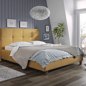 Styl holenderski. Łóżko tapicerowane Mario marki Comforteo. Fot. Comforteo