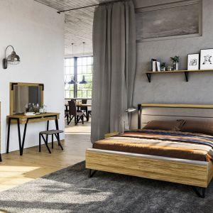 Kolekcja mebli PIK to doskonałe połączenie eleganckiej czerni i naturalnego drewna. Producent: Mebin