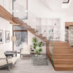 Przestrzeń pod schodami można zagospodarować na strefę wypoczynkową. Fot.RuckZuck