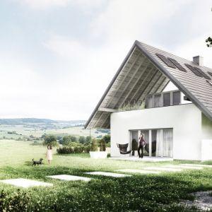 Dom Optymalny został zaprojektowany, aby po wybudowaniu zapewniał ciepło zimą, chłód latem, prawidłową wentylację, wystarczającą ilość światła dziennego i dobre światło sztuczne a wreszcie wykorzystywał na potrzeby budynku samodzielnie wytwarzany prąd. Fot. KWK Promes