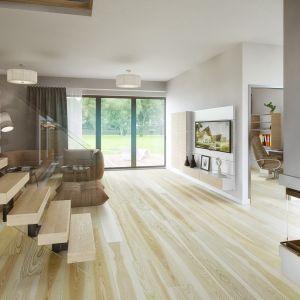 Powierzchnia użytkowa domu to 140 m2 plus 18 m2 powierzchni garażu w bryle budynku. Fot. KWK Promes