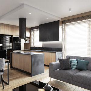 W mieszkaniu w stylu loft podstawą jest otwarta przestrzeń dzienna. Projekt: Justyna Krupka, studio projektowe Przestrzenie