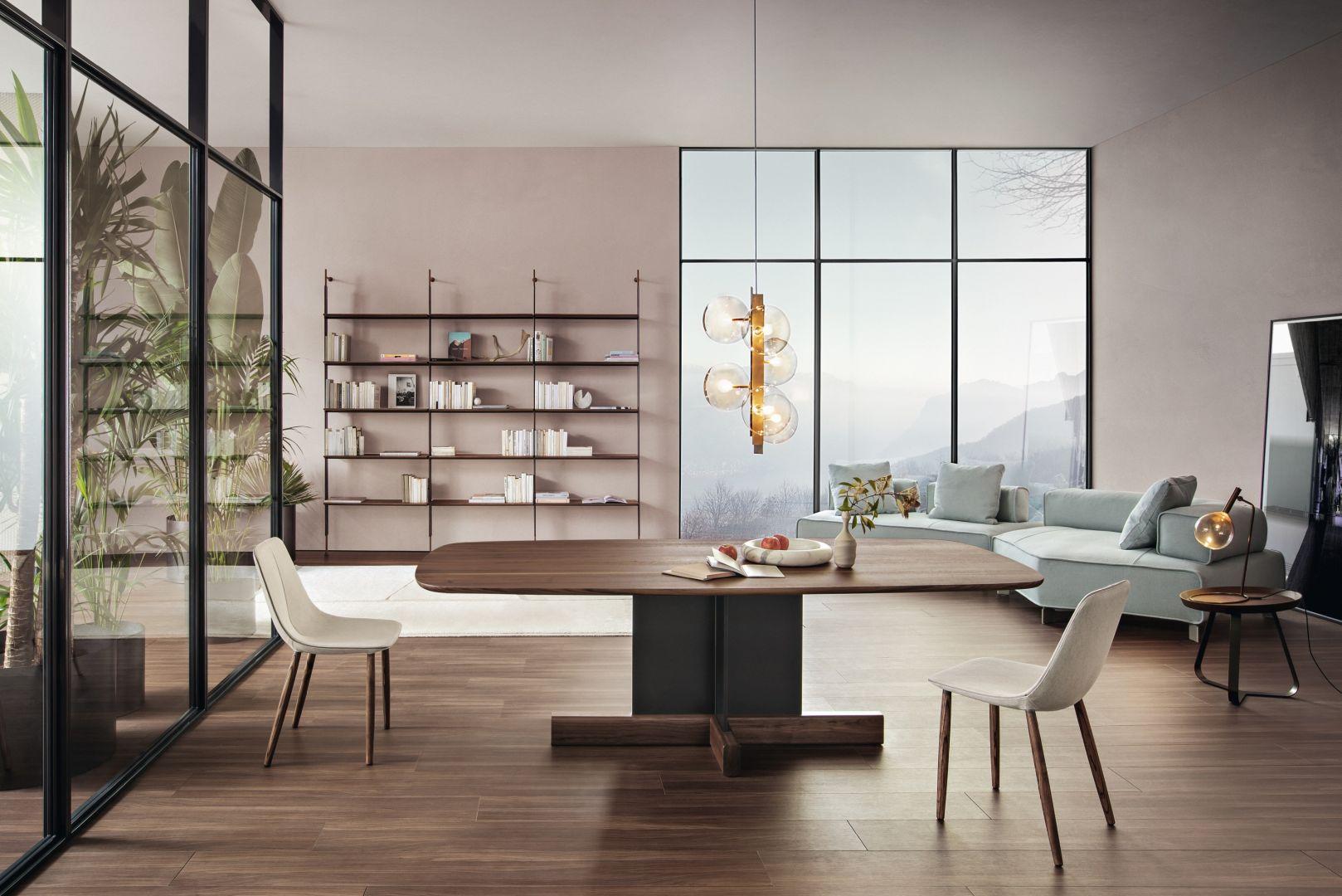 Do oryginalnych stołów z nowej kolekcji dołączają również reinterpretacje niektórych z najbardziej znanych dzieł Bonaldo. Fot. Bonaldo Cross Table