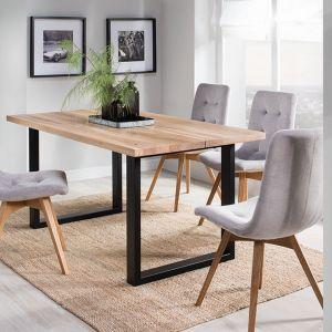 Stół rozkładany Matin, nogi metalowe w kolorze czarnym, blat fornirowany. Od 2176 zł, producent: Meble Krysiak