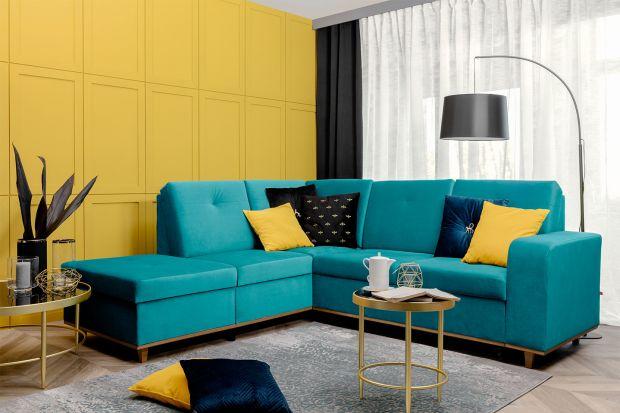 Szukacie sofy do swojego salonu? Nie wiecie jaki modele wybrać? Zobaczciewygodny narożnik w pięknym kolorze.