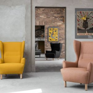 Fotele-uszaki z kolekcji Muno firmy Marbet. Fot. Marbet
