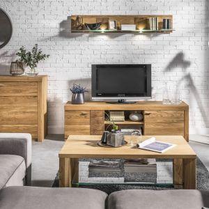 Oferta rynkowa szafek RTV jest bardzo szeroka: od prostych modeli stojących, wyposażonych w praktyczne półki i szuflady, po ergonomiczne wiszące. Fot. Szynaka Meble
