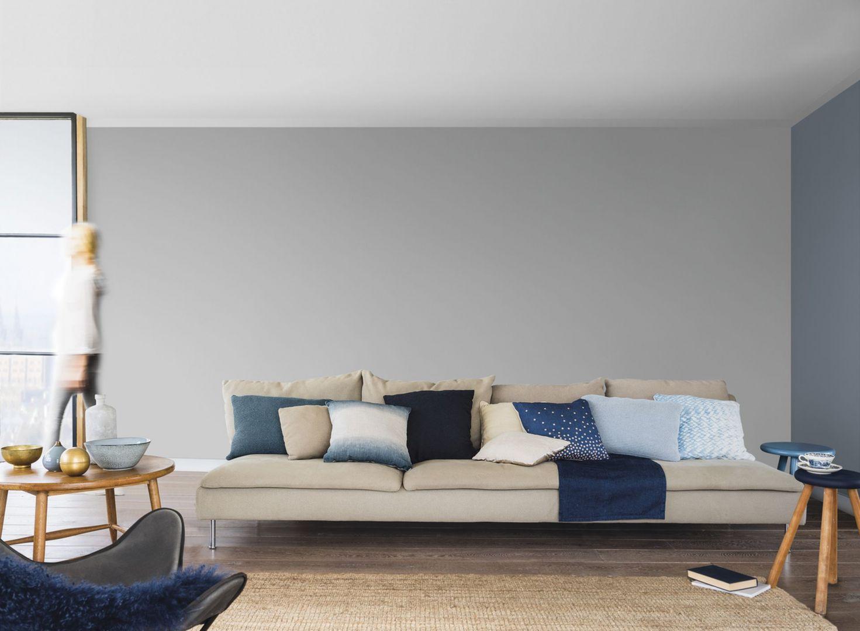 Chodny szary odcień szarości to popularny kolor w palecie Dulux. Fot. Dulux