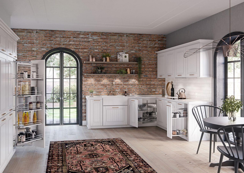 Wśród najczęściej wybieranych kolorów do kuchni pierwsze miejsce od lat zajmuje biel – zarówno w połysku, jak i w spokojniejszym matowym wykończeniu. Fot. Rejs