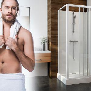 Podstawową zasadą, aby kąpiel była źródłem lepszego samopoczucia jest czas jej trwania. Nie może być on zbyt krótki, bo nie zdążymy się zrelaksować, ani zbyt długi, bo możemy doprowadzić do przesuszenia skóry. Fot. Sanplast