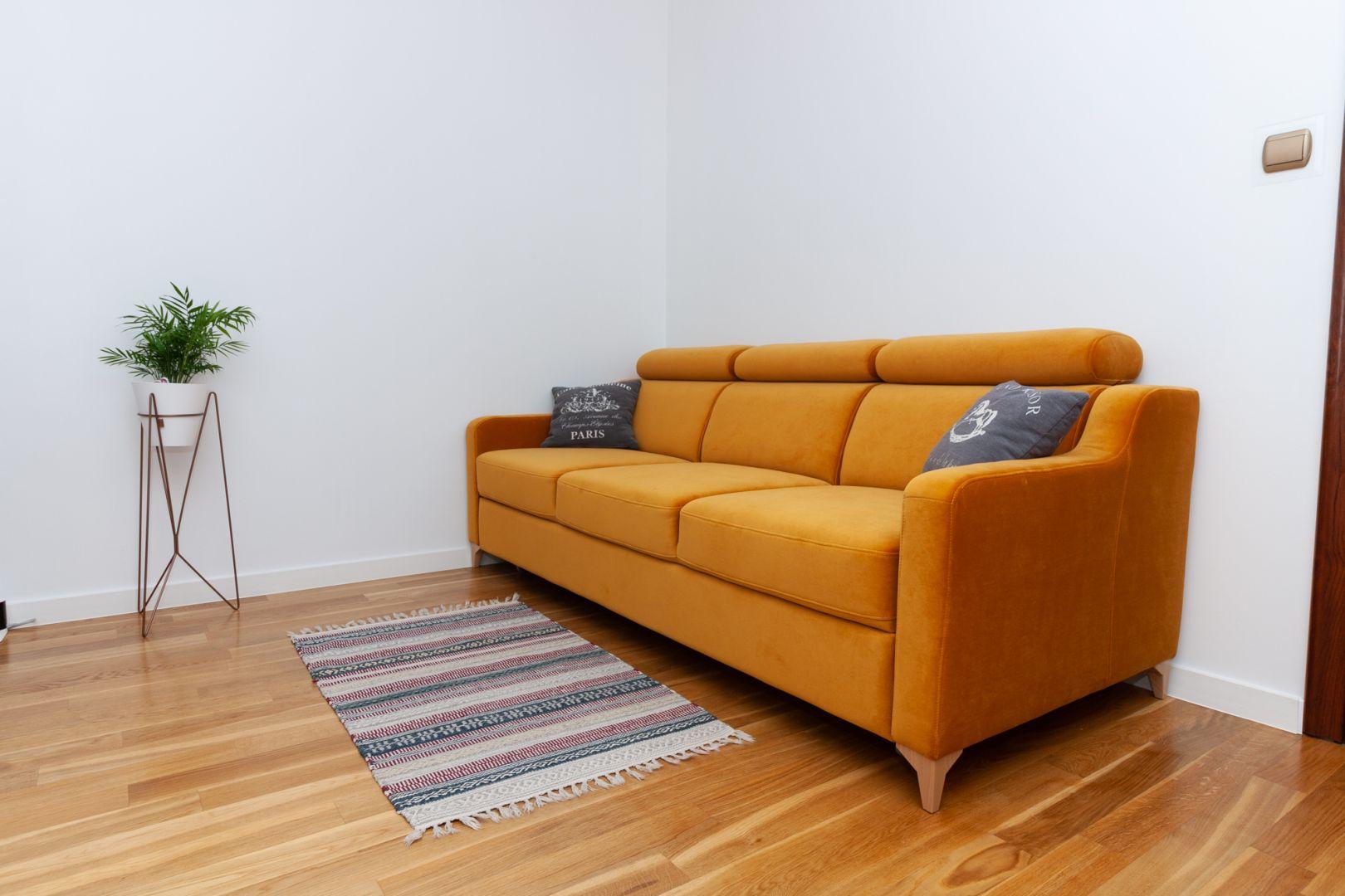Kanapa z funkcją spania to świetnie rozwiązanie zarówno do małego, jak i dużego salonu. Fot. MP Nidzica
