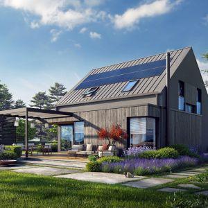 Projekt Mini 13 to przykład domu, który świetnie wpisuje się w aktualny kierunek energooszczędnego budownictwa. Projekt: pracownia Archipelag