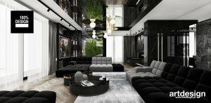 Aranżacja salonu w ciemnych kolorach