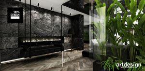 Salon z dekoracyjnym biokominkiem