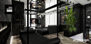 Projekt wnętrza dwupoziomowego apartamentu