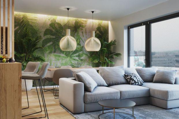 Zastanawiacie się, jak wykończyć ścianę w salonie? Co wybrać - farbę, tapetę, panele drewniane, cegłę? Zobaczcie 12 projektówmodnych salonów.