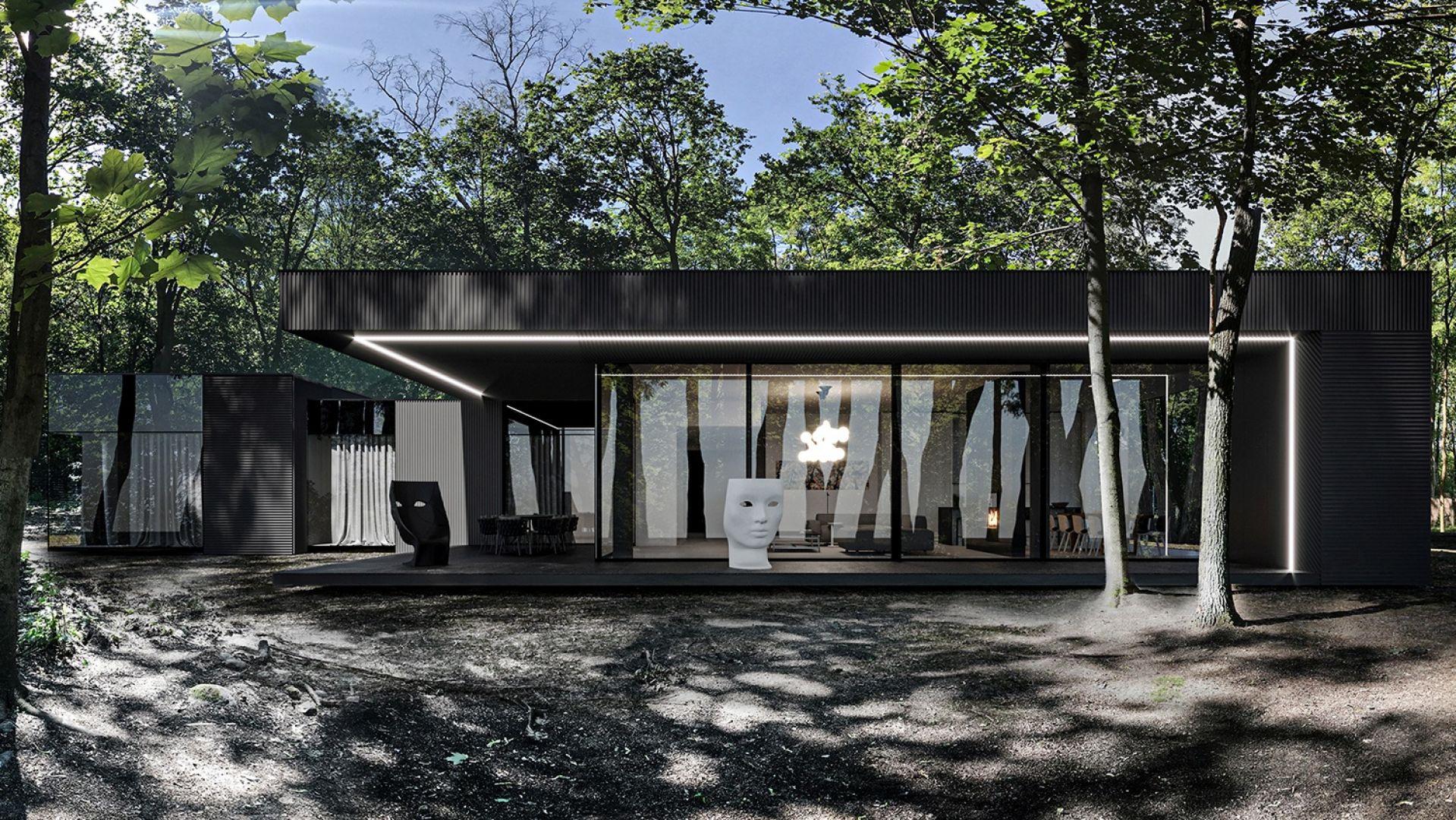 Dark House będzie miał powierzchnię 320 m². Zostanie zbudowany na działce liczącej 3.000 m². Fot. REFORM Architekt
