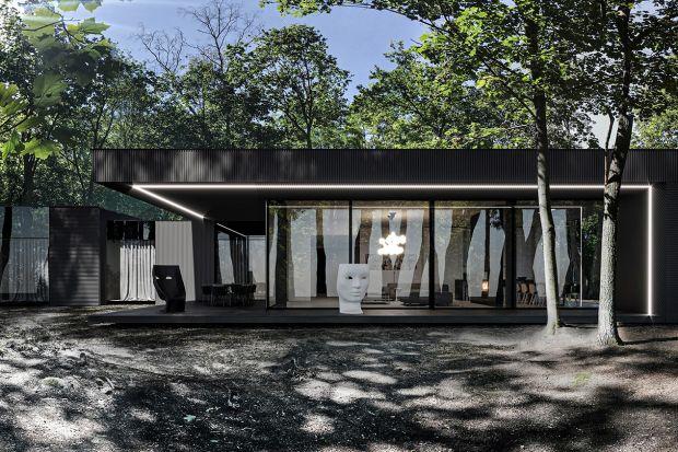DarkHouse wtapia się w otoczenie drzew, a przy tym sprawia wrażenie pozostającego w ruchu. W założeniu ma być niedostępny z zewnątrz, ale otwarty i bezpieczny dla właścicieli. Zobaczcie niezwykły, najnowszy projekt architekta Marcina Tomaszew