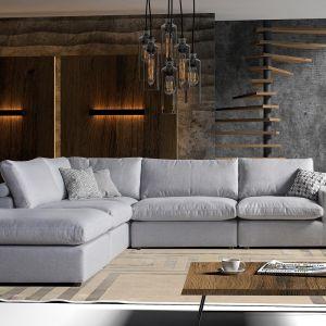 Narożnik do salonu z kolekcji Cube dostępny w ofercie firmy Caya Design. Fot. Caya Design
