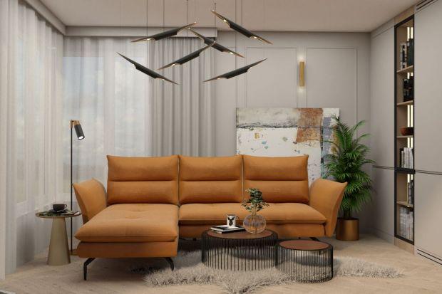 Sofa w salonie: modne meble w kolorze