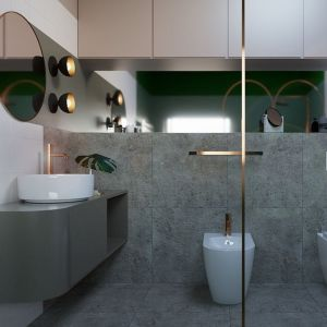 Założeniem projektu było stworzenie wnętrza, które łączyłoby współczesne potrzeby estetyczne z funkcjonalnością. Projekt Joanna Andruszko.