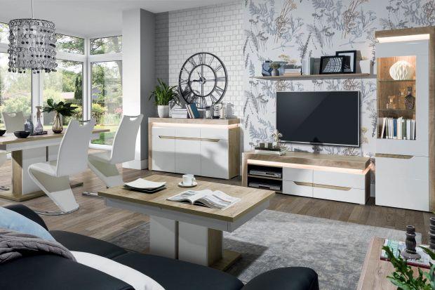 Białe meble to idealny wybór do nowoczesnego salonu. Będę pięknie wyglądały zarówno w małym, jak i dużym wnętrzu.