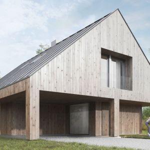Dom z obejściem. 163,7 m² + 26,7 taras i loggia. Projekt: Domy z Głową, Pracownia Architektury Głowacki