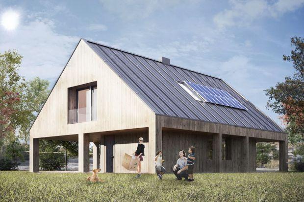 Dom z Obejściem to gotowy projekt piętrowego domu jednorodzinnego z tarasem i dwoma zadaszonymi miejscami postojowymi. Jak wam się podoba taki pomysł na dom?