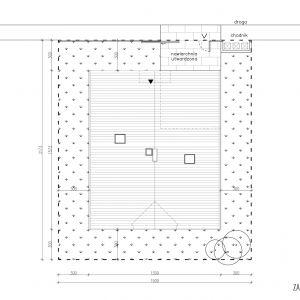 Zagospodarowanie terenu. Dom z obejściem. 163,7 m² + 26,7 taras i loggia. Projekt: Domy z Głową, Pracownia Architektury Głowacki