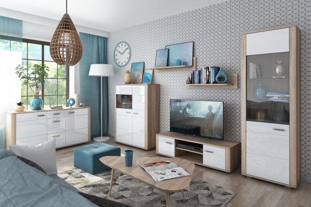 Szukasz pomysłu na meble do jasnego salonu? Poszukujesz białej komody, mebli na ścianę z telewizorem czy regału do pokoju dziennego? Zobacz nasz przegląd 10 ciekawych i ładnych kolekcji z polskich sklepów.