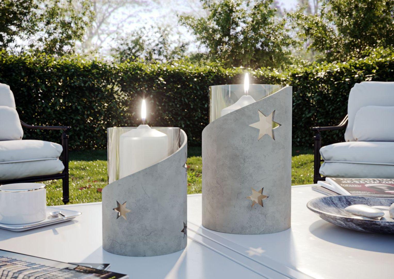 Jednym z oryginalniejszych pomysłów na wykorzystanie betonu dekoracyjnego jest świecznik, który pięknie zaprezentuje się w salonie czy sypialni. Aby go wykonać, wystarczy odpowiednia forma. Fot. Ultrament