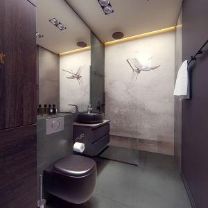 W łazience mamy prysznic Projekt i wizualizacje: Monika Staniec, Interior Design