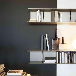 Meble na książki w salonie. Regał Plain, marka Lema, dostępny w Mood-Design. Fot. Lema/Mood-Design