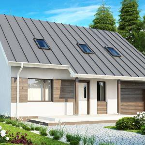 Dom z poddaszem. Projekt Z119, powierzchnia użytkowa: 117,3 m2. Na piętrze 3 sypialnie, 2 łazienki, garderoba.  Szacunkowy koszt budowy: 203 tys. zł (stan surowy zamknięty). Pracownia Z500