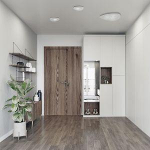 Seria Organic to oryginalne plafony sufitowe. Mają opływowe kształty przykuwające uwagę, nie zajmujące zbyt wiele miejsca. Dzięki temu znakomicie sprawdzą się w przedpokoju oraz w korytarzu. Fot. Nowodvorski Lighting