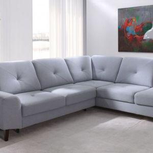 Narożnik Asti, ruchome poduchy i duża powierzchnia siedzenia, duży pojemnik. Cena: od 4247 zł. Producent: Benix