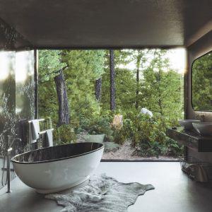 Jednak niedocenionym elementem, który może nadać pomieszczeniu kąpielowemu charakteru jest designerski grzejnik. Fot. Technistone