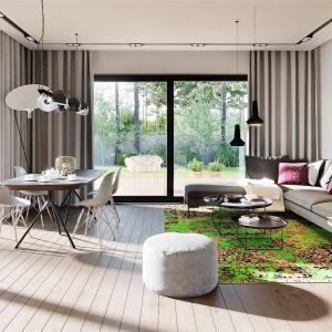 Układ pomieszczeń na planie prostokąta maksymalnie wykorzystuje każdy metr powierzchni użytkowej. Projekt: pracownia Archipelag